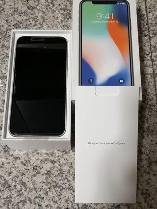 BN Silver iPhone X (256GB) + Apple Care
