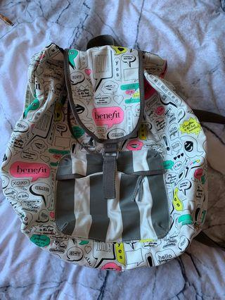 Benefit cosmetics backpack
