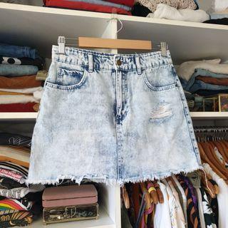 Billabong acid wash skirt