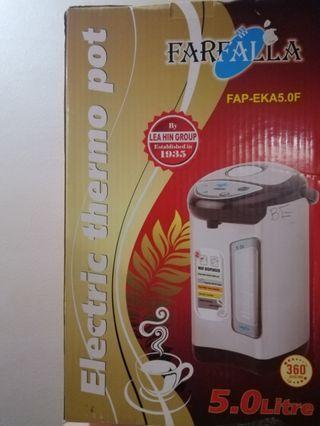 Brand new Farfalla Electric Thermo Pot 5 litres