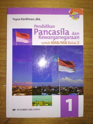 Buku Pendidikan Pancasila dan Kewarganegaraan (PPKN) Kelas 10