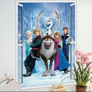 🌟PM for price🌟 🍀3D Queen Elsa Kids Room Wall Sticker🍀