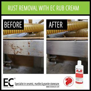 EC RuB Rust Stubborn Stain Grime Build Up Grease Micro-Abrasive Removal Cream
