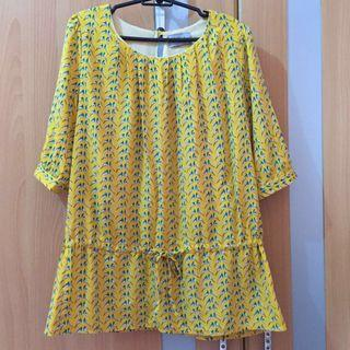 Unica Hija yellow printed blouse