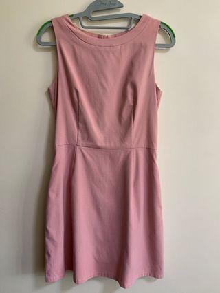 🚚 Pink Skater Dress with side pocket