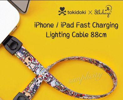 88cm Authentic Tokidoki iPhone / iPad Fast Charging Cable