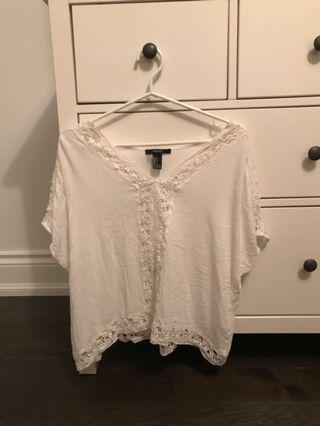 White Going out top