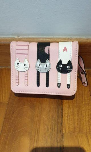 Female Wallet with Cat Design