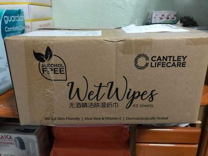 CANTLEY LIFECARE Wet Wipes - 40s (Carton of 12 pkts)