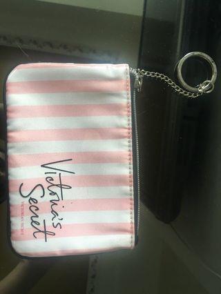 Victoria's Secret Coin Pouch Purse Stripe