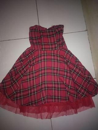 Mididress red