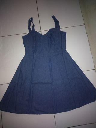 Mididress denim jeans