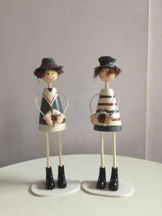 Sailor wooden dolls decoration