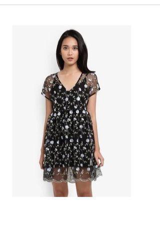 Something borrowed 2n1 embroidered black dress