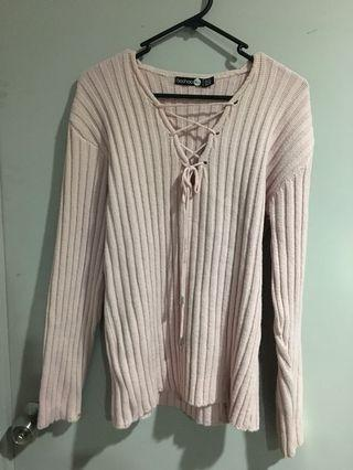 Pink long sleeve knit