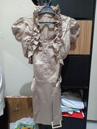 Baju Pesta Kembang2 + Rompi