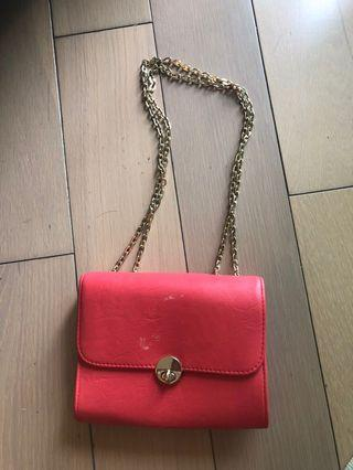 Australian's brand Colette Red handbag with gold chain