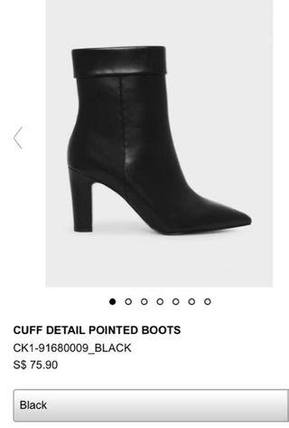 charles and keith black boots