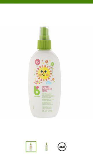 Babyganics Sunscreen Spray 50+(177ml)