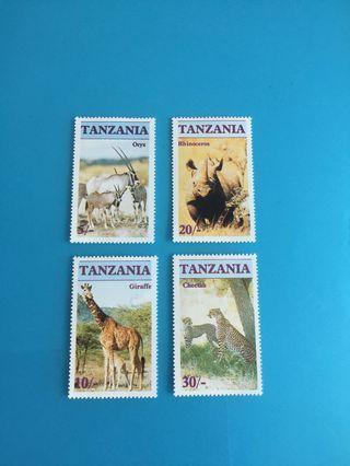 外國郵票—坦桑尼亞動物