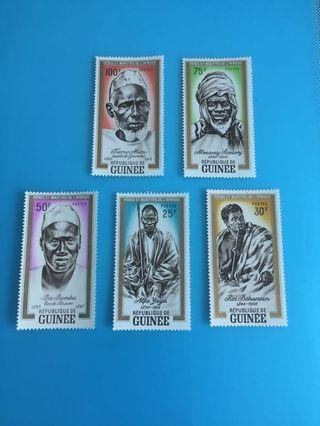 外國郵票—幾內亞土人