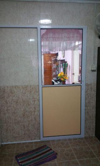Aluminium Sliding Door for kitchen and Toilet