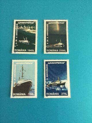 外國郵票—羅馬尼亞船舶