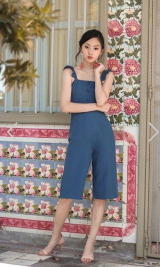 🚚 Lovet alexis ruffles button jumpsuit