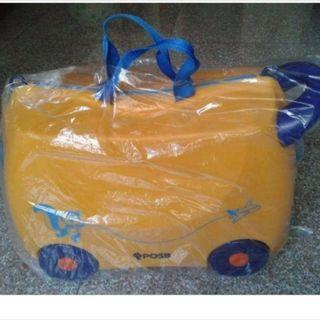 CUTE YELLOW LUGGAGE/WALKER FOR TODDLER DEVELOPMENT PLAY