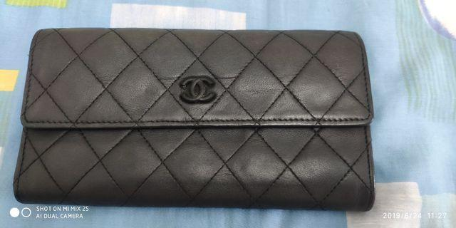 SGD150!! Chanel Wallet long black*USED authentic*
