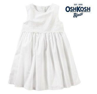 3T PO BN Osh Kosh White Eyelet Dress