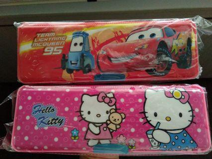 Brand New Lightning McQueen and Hello Kitty pencil case box