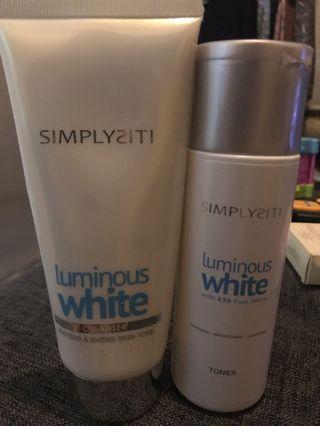 Toner & Cleanser Luminous white x50 Pure White