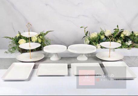 【Rent】Dessert Plate Set