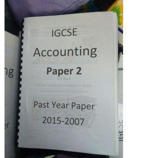 IGCSE accounting pass year