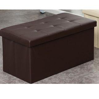 Ottoman Storage Chair Leather