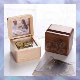 Customised Engraved Mechanical Music Wooden Box Gift