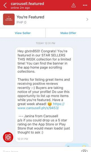Thank You Very Much CAROUSELL 😀