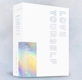 BTS WORLD TOUR 'LOVE YOURSELF' EUROPE Blu-ray