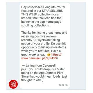 THANK YOU CAROUSELL! ❤💋