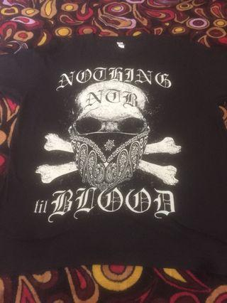 nothing till blood  band tee
