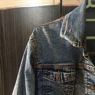 jaket jeans oversize crop