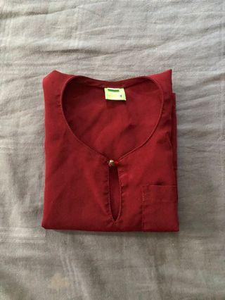 Maroon Coloured Baju Melayi