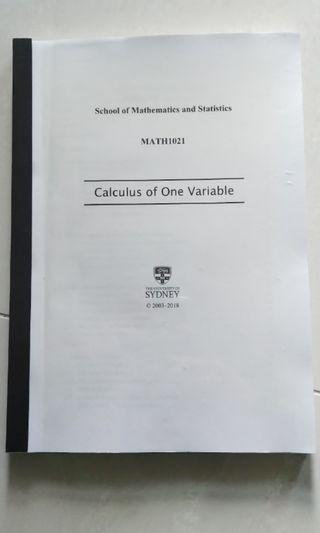 Calculus of One Variable mathematics textbook