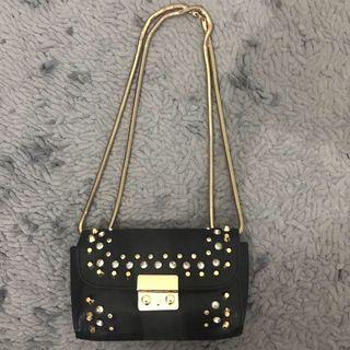 Sling studded bag by Topshop