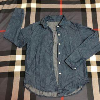 藍色襯衫外套