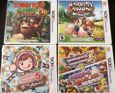 3DS Games - new