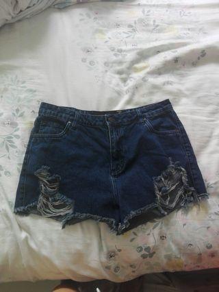 Blue demin shorts