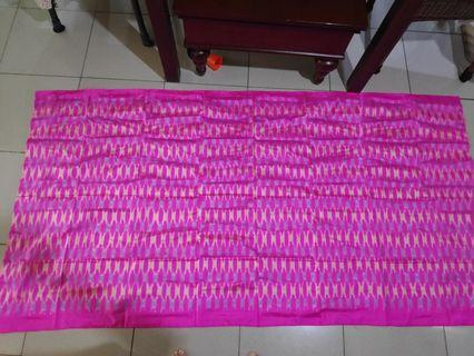SALE!!! Kain Songket Tipis Shocking Pink