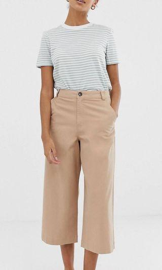 ASOS beige wide legged trousers
